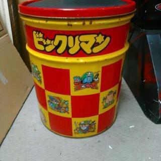 昭和レトロ ビックリマン 缶 ペール缶 椅子 バケツ