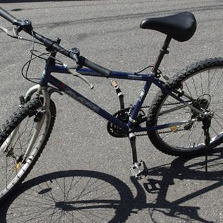 無料 自転車 マウンテンバイク 26インチ ブルー