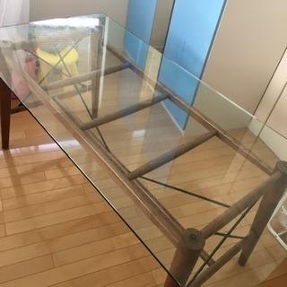 デザイナー ダイニング ガラス テーブル