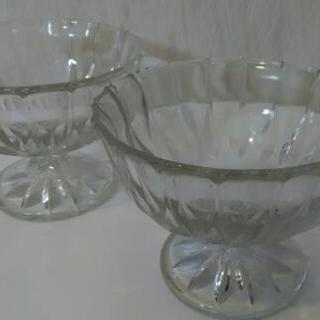 デザート 器 6個セット ガラス レトロ