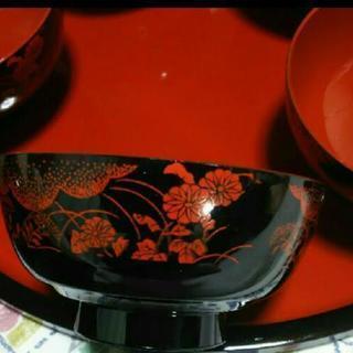未使用 ちらし寿司等 食器 お櫃 吸い物椀 5客 - 服/ファッション