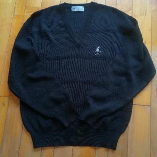 CASTLE  BACKERS  Vネックセーター 黒 M