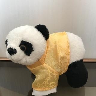 香港の空港で買ったパンダのぬいぐるみ - 足利市