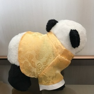 香港の空港で買ったパンダのぬいぐるみ − 栃木県