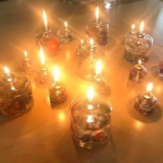 【春の特別コラボワークショップ】ハーバリウムオイルランプ製作&アロ...
