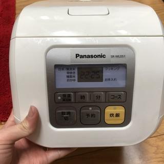【0円!!!】Panasonic - 炊飯器 (おまけのトースタ...