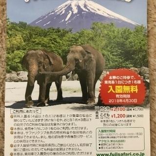 富士サファリパーク入園無料券