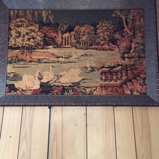 レア 絨毯画 額付き 絵画