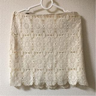 スカート FOREVER21 タイト 花柄 オフホワイト ミニス...