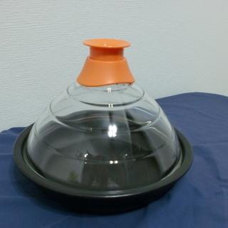 日本製 HARIO ふたがガラスのタジン鍋 使用頻度少ない!