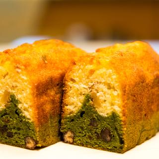 抹茶と白あんのパウンドケーキ