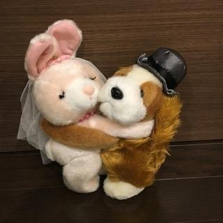 【結婚式】美品 ウェディングドール 干支ドール ぬいぐるみ ウェ...