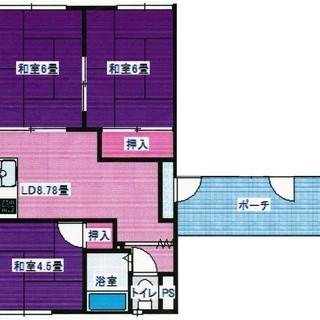矢野東の軽量鉄骨のアパートです。昔、積水が建てました。P一台付、こ...