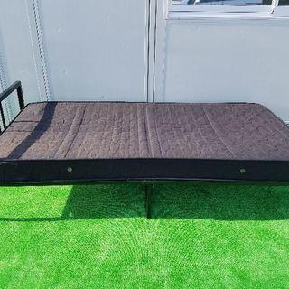 格安‼シングルベッド フレーム ボンネルコイル マットレス付き