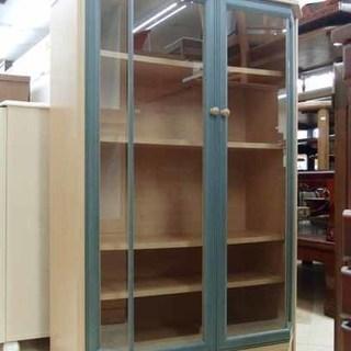 ガラスのキャビネット 食器棚/コレクションボードにも 札幌市内配送...