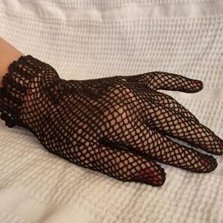 黒いレース手袋 2種 コスプレ