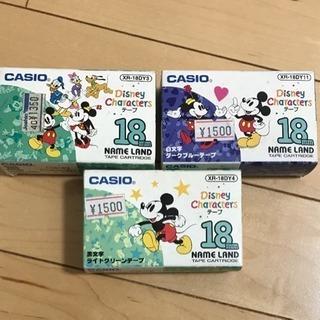 大幅最終値下げ!CASIO テプラ  テープカセット※Disney②
