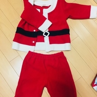 子供グッズ【1】サンタ服。ズボンタイプ。サイズ80