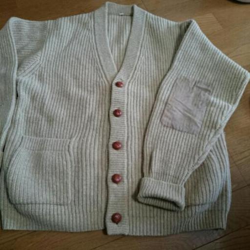 無印良品 良品計画 ウール100% 薄手 ニット セーター カットソー M 灰 グレー 長袖 Vネック レディース
