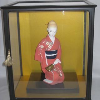 博多人形 ガラスケース付き ☆日本人形・置物