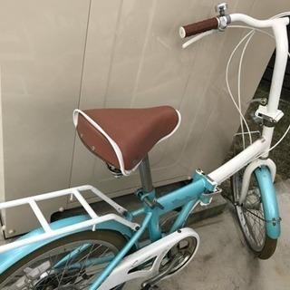 折りたたみ自転車 パンクしています