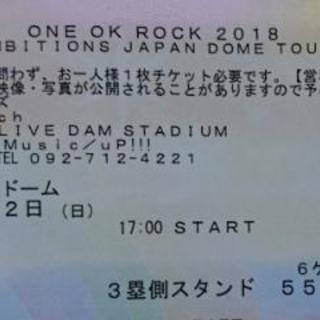 ONE OK ROCK 2018 TOUR 4/22ヤフオクドーム...