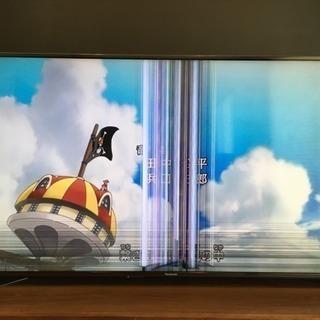 液晶テレビ 4K 倍速液晶55型 液晶割れ ジャンク品