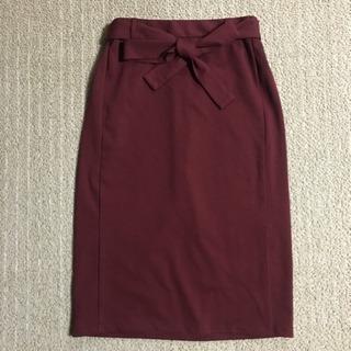 美品☆GU ウエストリボンタイトスカート