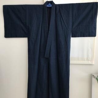 男性用紬アンサンブル 粋に着こなしてください!【少々難あり】