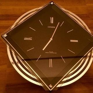 CITIZEN 壁掛け時計〈黒〉