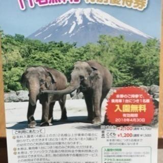 富士サファリパーク 無料チケット