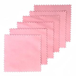 シルバーアクセサリー磨き専用クロス(ピンク)6枚セット