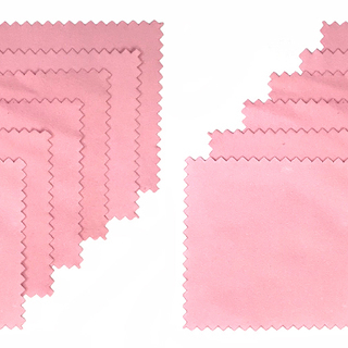 シルバーアクセサリー磨き専用クロス(ピンク)12枚セット