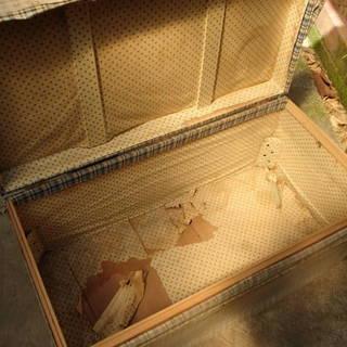 古い衣装箱 昭和レトロ DIY