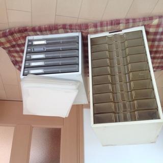 中古レターケース10段&5段  と中古クリアファイル50枚
