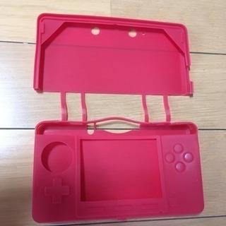 任天堂3DS用シリコンカバー 赤