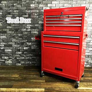 美品 ツール ボックス 工具箱 ワゴン キャビネット 赤 レッド...