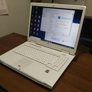 中古パソコン富士通NF/A70--15インチ白★Windows10