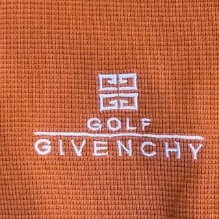 GIVENCY 綺麗なオレンジポロシャツ