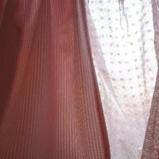 出窓用カーテン レースつき ピンク☆