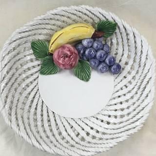【美品】 イタリア製 Lanzarin フルーツバスケットオブジ...