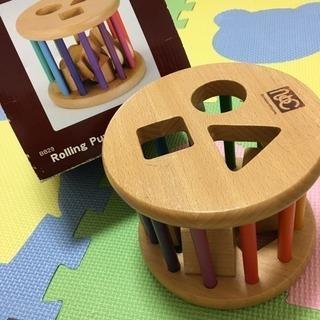 中古◆赤ちゃん おもちゃ 型はめ ローリングパズル ニチガン
