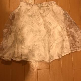 花柄シースルースカート新品