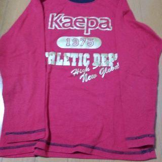 140㌢ Kaepa 赤の長袖Tシャツ