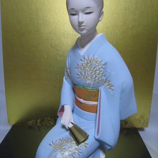 博多人形・日本人形・置物 ガラスケース付き