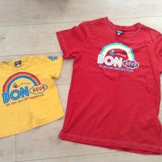 Tシャツ  3can4on    80cm & M サイズ