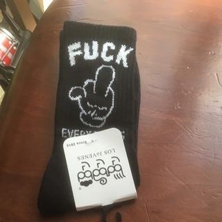 新品未使用 fuck sock ファック レッグウォーマ レッグ...