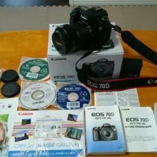【8/11値下げ❗】Canon EOS70D、18~135ミリS...