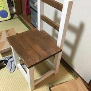 手作りの椅子普通に大人も座れます