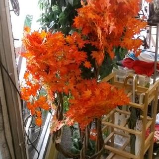 札幌市 もみじ/紅葉の造花のオブジェ インテリア